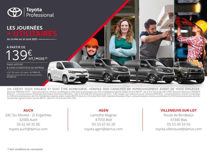 Les Journées + Utilitaires Toyota 2021