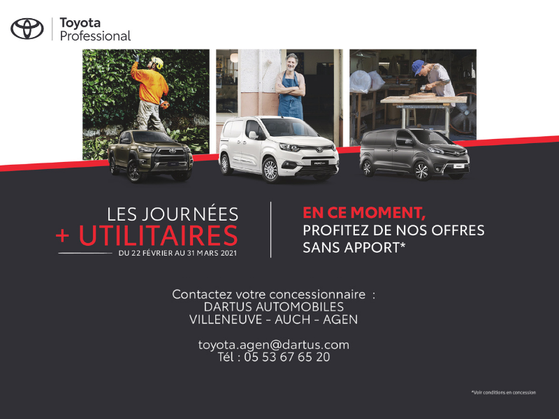 Journées Plus Utilitaires Toyota 2021