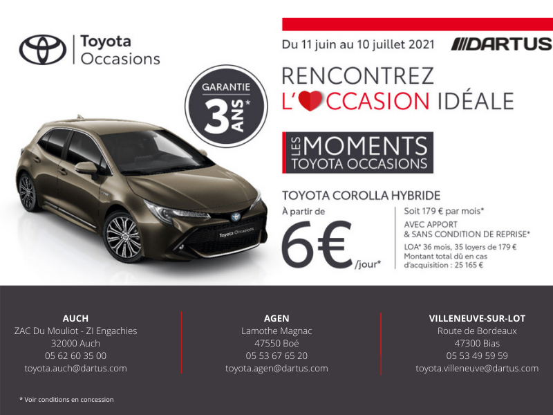 Les Moments Toyota Occasions